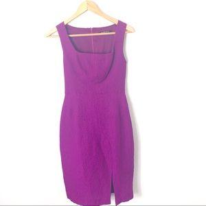 Black Halo Sheath Purple Textured Dress size 2